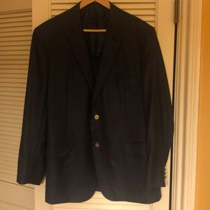 Men's Brione navy blue sports coat. BEAUTIFUL!